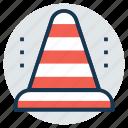 traffic cone, construction cone, hazard cone, road sign, under construction