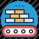 brickwork, bricks factory, bricks elevator, bricks loading conveyor, industrial conveyor