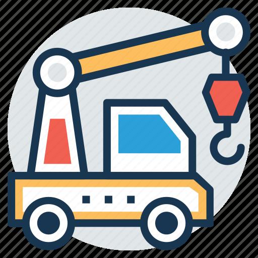 construction crane, crane hook, crane truck, mobile crane, tower crane icon