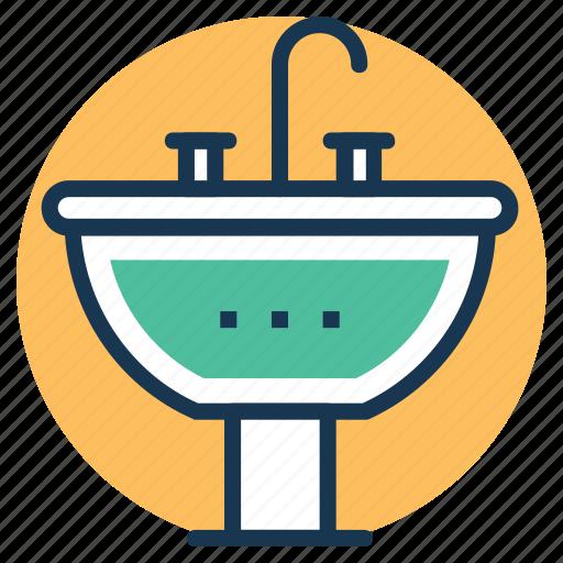 basin, bathroom vanities, sink, wash basin, wash bowl icon