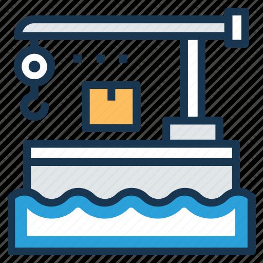 container crane, container handling crane, dockside gantry crane, harbor crane, ship-to-shore crane icon