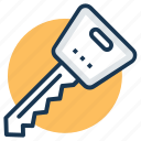 car key, door key, house key, key, login, password icon