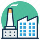 factory, industry, manufacturing unit, mill, power plant icon