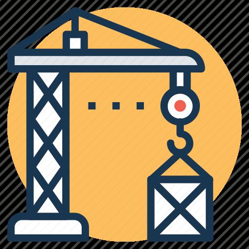 construction crane, crane machine, heavy machinery, industrial crane, tower crane icon