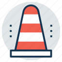 construction cone, hazard cone, road sign, traffic cone, under construction