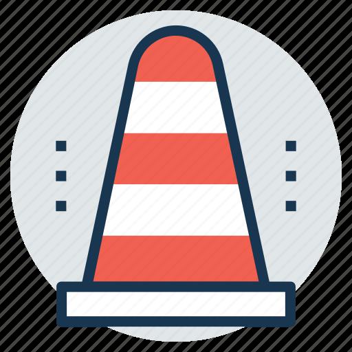 construction cone, hazard cone, road sign, traffic cone, under construction icon