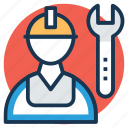 mechanic, repairer, repairman, serviceman, technician icon