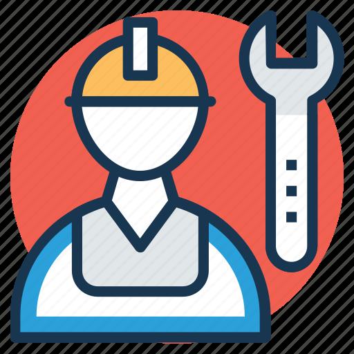 mechanic, repairer, repairman, serviceman, technician icon