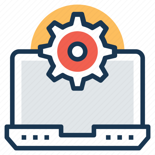 computer screen gear, computer setting, computer technology, digital engineering, operating system icon