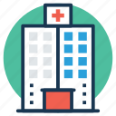 clinic, hospital, hospital building, infirmary, nursing home icon
