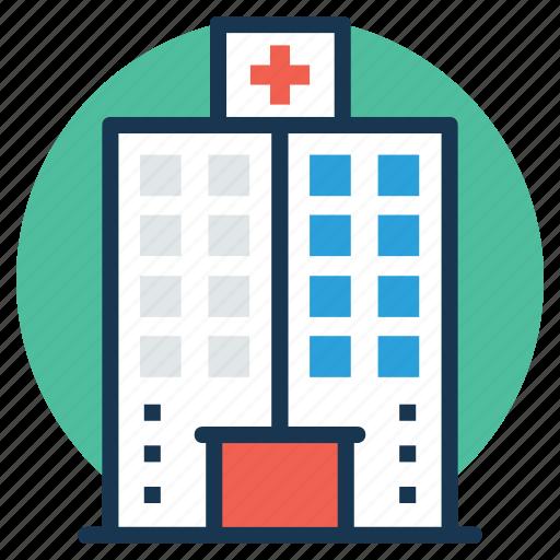 clinic, hospital, hospital building, infirmary, nursing home icon