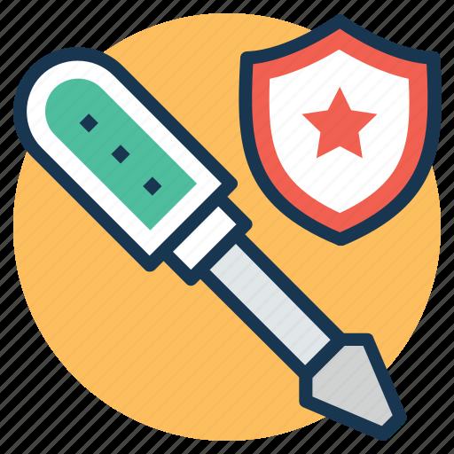 repair service shield, repairing protection, service protection, shield repair service, wrench with shield icon