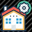 building construction, construction site, construction work, home renovation, house construction icon