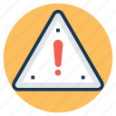 alert, attention, caution, danger, exclamation mark icon