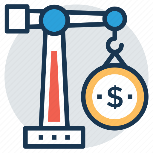 business construction, construction budget symbol, construction investment, house financing, property investment icon