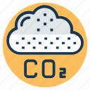 air pollution, atmospheric carbon dioxide, carbon dioxide, carbon dioxide formula, co2 icon