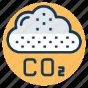 air pollution, atmospheric carbon dioxide, carbon dioxide, carbon dioxide formula, co2 icon