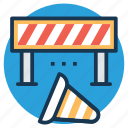 construction banner, construction barricade, construction barrier, traffic barrier, under construction barrier icon