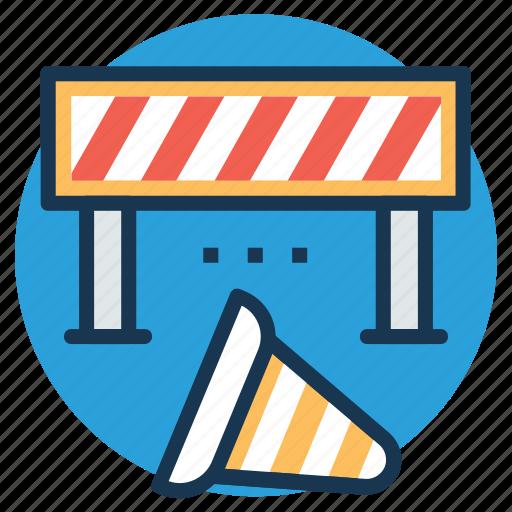 construction banner, construction barricade, construction barrier, traffic barrier, under construction barrier icon