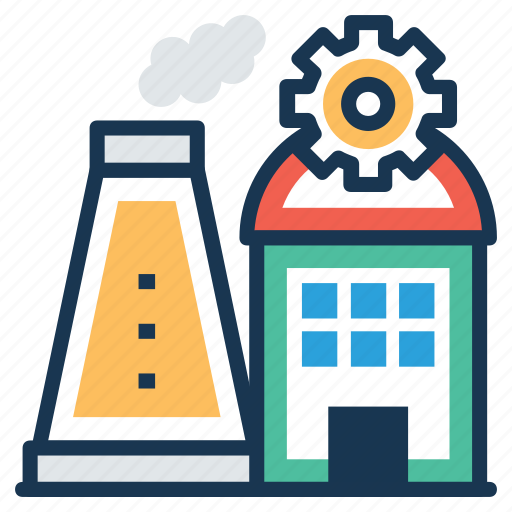 factory, industry, manufacturer, power plant, production plant icon