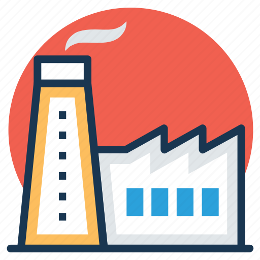 corporate, factory, industry, manufacturer, power plant icon