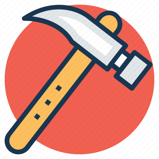 carpenter, claw hammer, hammer, tools, woodwork icon