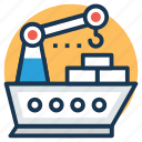 cargo ship, cruise, landing ship, logistics ship, sailing vessel icon