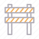 barrier, block, building, construction, stop icon