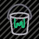 bucket, color, construction, decoration, paint