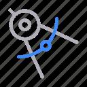 compass, construction, measure, protractor, tools