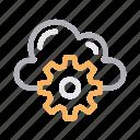 cloud, cogwheel, configure, gear, setting