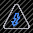 arrow, construction, down, energy, sign