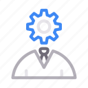avatar, engineer, gear, setting, worker