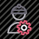 avatar, construction, engineer, gear, worker
