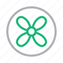 air, blade, exhaust, fan, wind icon