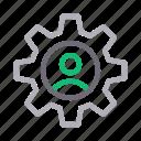 cogwheel, gear, profile, setting, user
