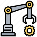 arm, automatic, factory, manufacture icon