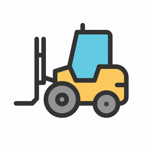Forklift, loader, manufacturing, storage, storehouse, truck, warehouse icon - Download on Iconfinder