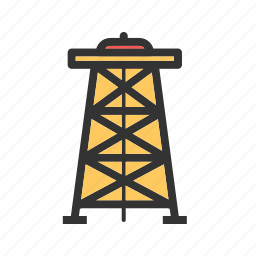 derrick, energy, fuel, industrial, industry, oil, rig icon