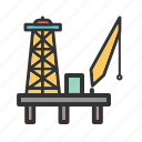 energy, fuel, gas, industrial, industry, oil, platform icon