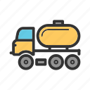 cargo, fuel, gas, oil, tank, tanker, truck icon