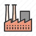 building, plant, industrial, work, factory, concrete, structure
