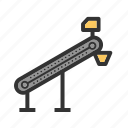 belt, conveyor, factory, machine, manufacturing, plant, production icon