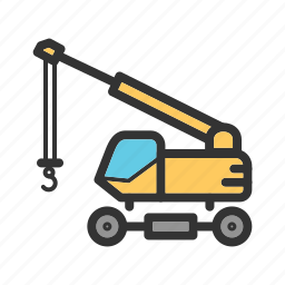 construction, crane, equipment, industry, lift, transportation, truck icon