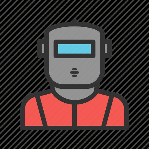 equipment, glass, industry, light, metal, technology, welding icon
