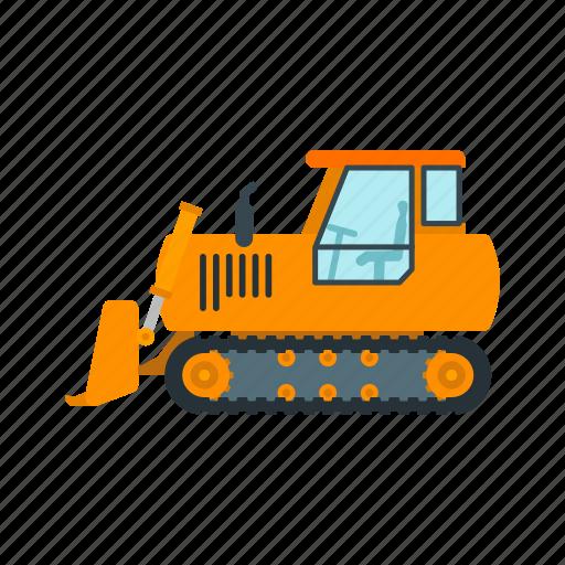 bulldozer, construction, digger, equipment, excavator, heavy, loader icon