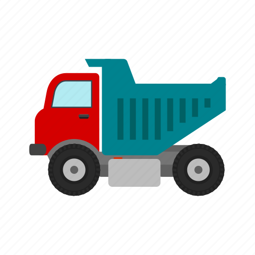 construction, dump, equipment, heavy, site, tipper, truck icon