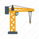 building, construction, crane, equipment, industry, steel, tower icon