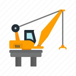 business, container, crane, harbor, heavy, industry, lifting icon