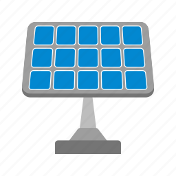 electric, energy, panel, power, solar, sun, technology icon